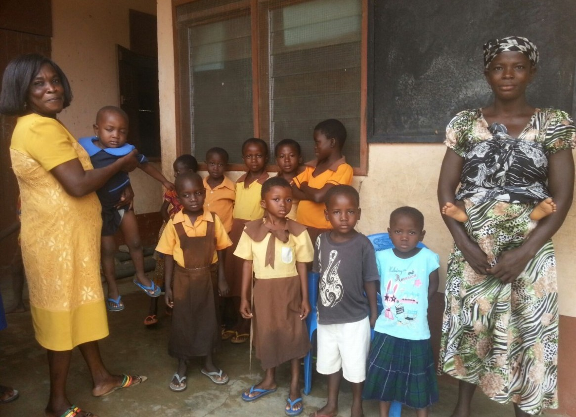 Photo of children at the start of the school term in Ghana